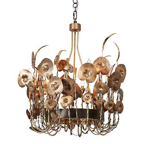 Lilium Chandelier, Brass/Bronze