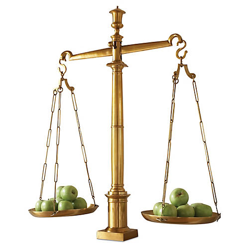 Library Scale, Brass