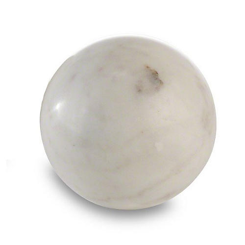 "5"" Marble Sphere, White"