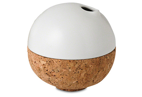 Cork Bubble Vase, Matte White