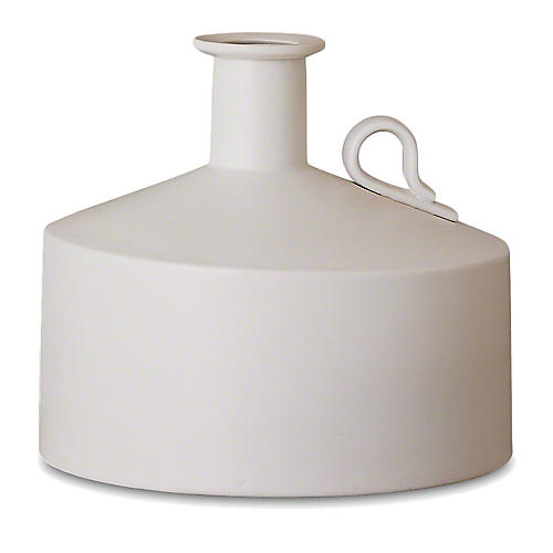 "8"" Squat Metro Bottle, Matte White"