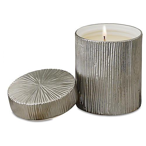 "5"" Ocean Jar Candle, Silver"