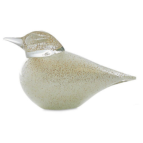 Granilla Glass Bird, Clear/Gold