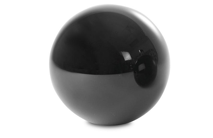 Crystal Sphere Accent, Black