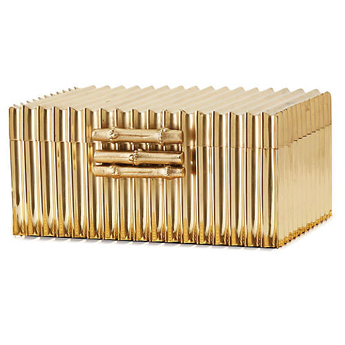 Corrugated Bamboo Box, Brass