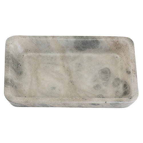 "9"" Decorative Tray, Smoked Alabaster"