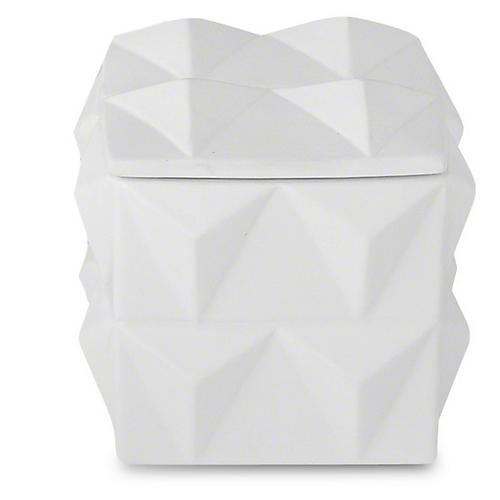 Braque Decorative Box, Matte White