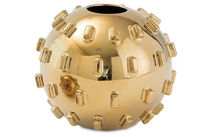 Thielo Decorative Vase, Gold