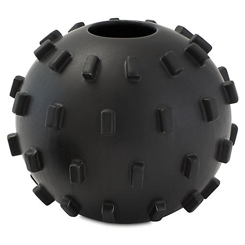 Thielo Decorative Vase, Matte Black