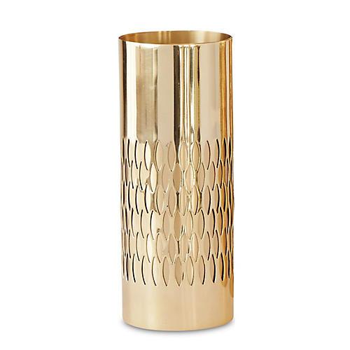 "10"" Bracelet Vase, Gold"