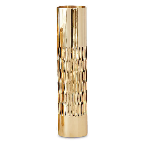 "13"" Bracelet Vase, Gold"