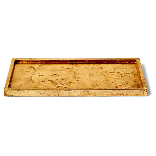 Luxe Rectangular Bath Tray, Gold
