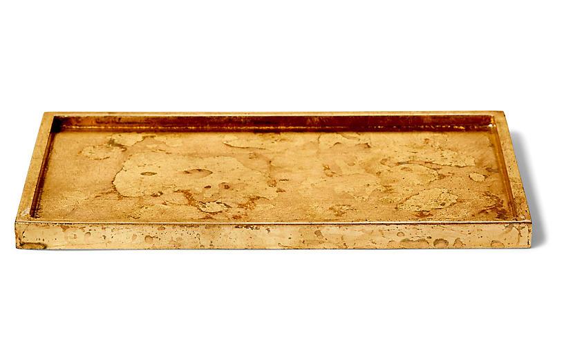 Luxe Rectangular Bath Tray, Gold