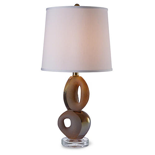 Pablo Table Lamp, Amber/Clear
