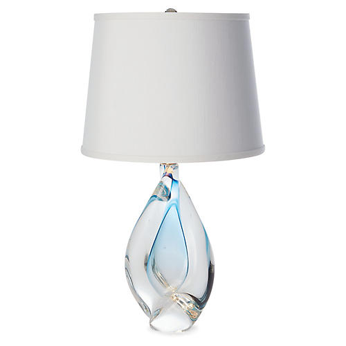 Twist Table Lamp, Ocean Blue
