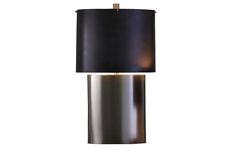 Nordic Large Table Lamp, Silver/Black