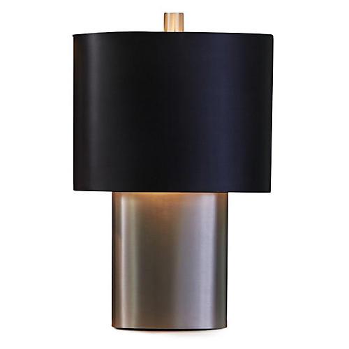 Nordic Small Table Lamp, Silver/Black