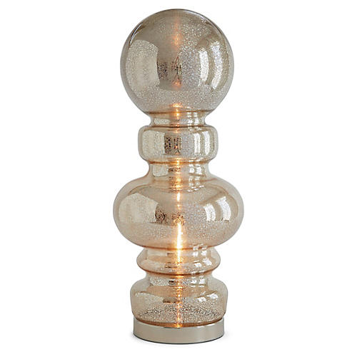 Paola Large Table Lamp, Crackle Clear