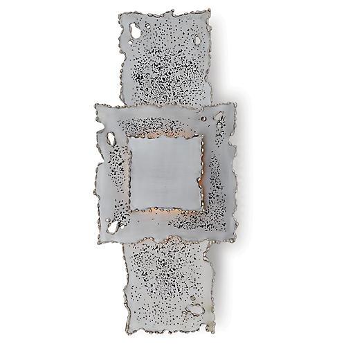 Melting Hardwired Sconce, Antiqued Nickel