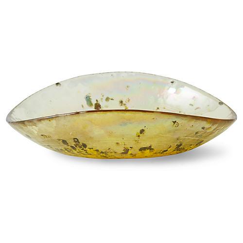 """7"""" Gideon Small Bowl, Molten Green"""