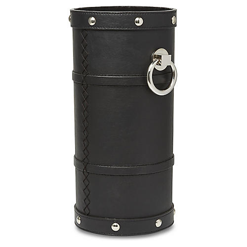 "20"" Adyson Umbrella Stand, Black/Nickel"