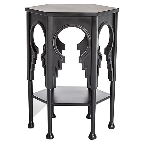 Jacobean Side Table, Ebony