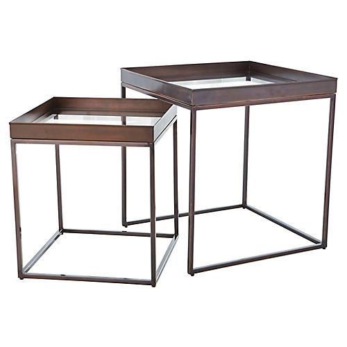 S/2 Perfect Nesting Tables, Bronze
