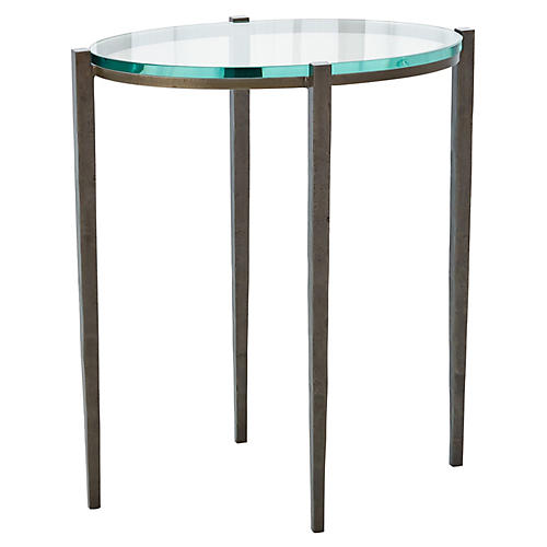 Petite Oval Side Table, Natural Iron