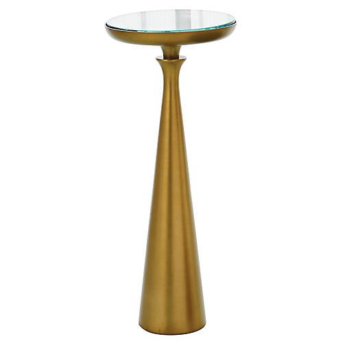 Minaret Side Table, Satin Brass