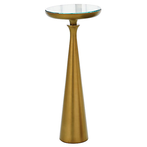 Minaret Side Table, Satin Brass