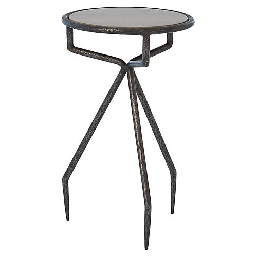 Telsa Side Table, Natural Iron
