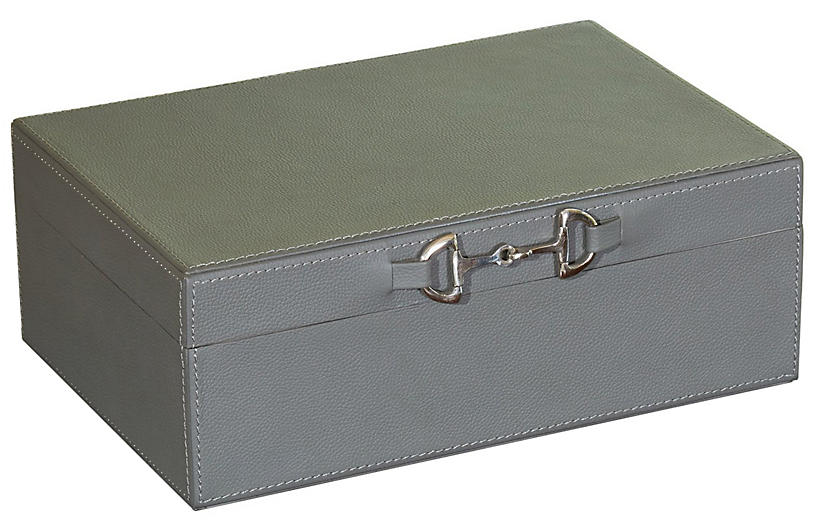 Stirrup Box, Gray