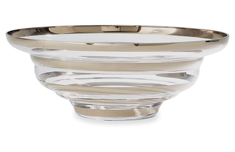 22 Saturn Decorative Bowl Platinum Bowls Centerpieces Accents Home Decor Entertaining One Kings Lane