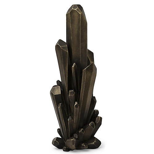 Facet Cluster Sculpture, Bronze