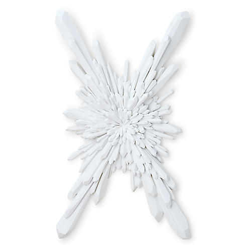 "40"" Facet Starburst Sculpture, White"