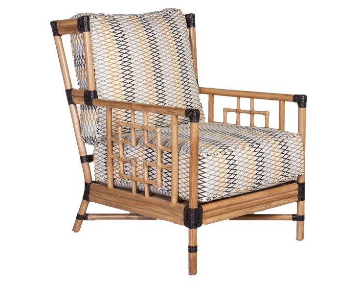 Capetown Accent Chair, Multi/Natural