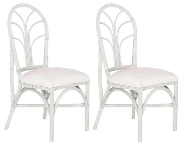 White Bermuda Chairs, Pair