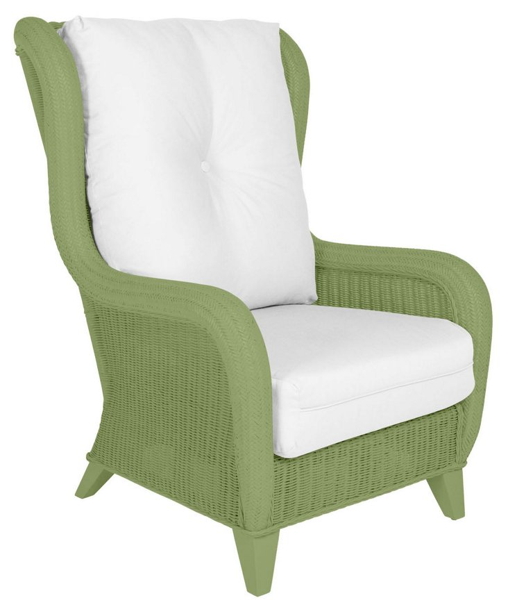 Kelly Wingback Chair, Green