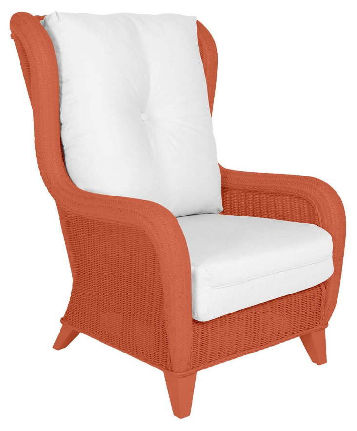 Kelly Wing Chair, Coral