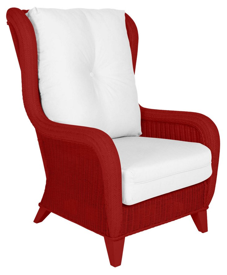 Kelly Wing Chair, Red