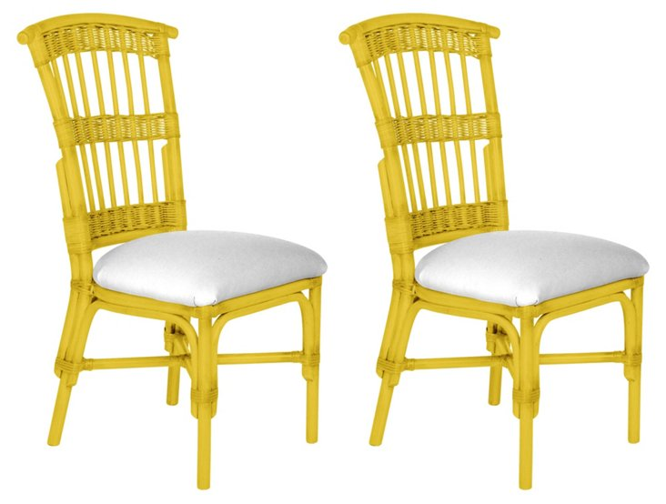 Yellow Shore Dining Chair, Pair
