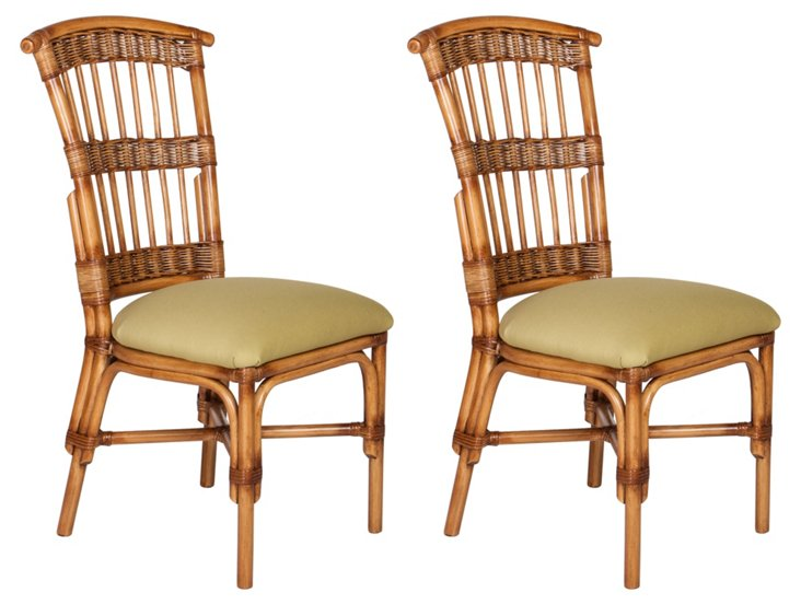 Natural Shore Dining Chairs, Pair