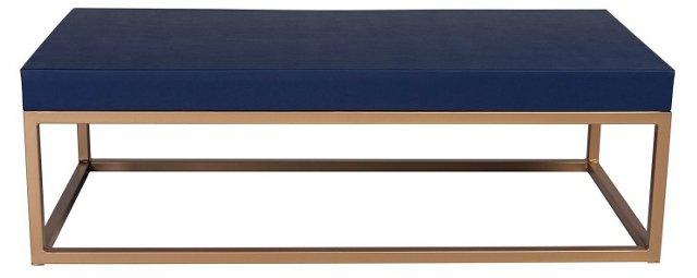 Hadley Table, Navy Ostrich