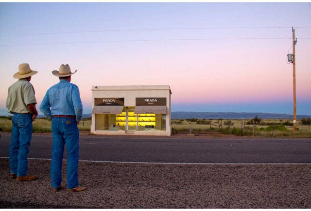 Prada Marfa, Two Cowboys, Oversize