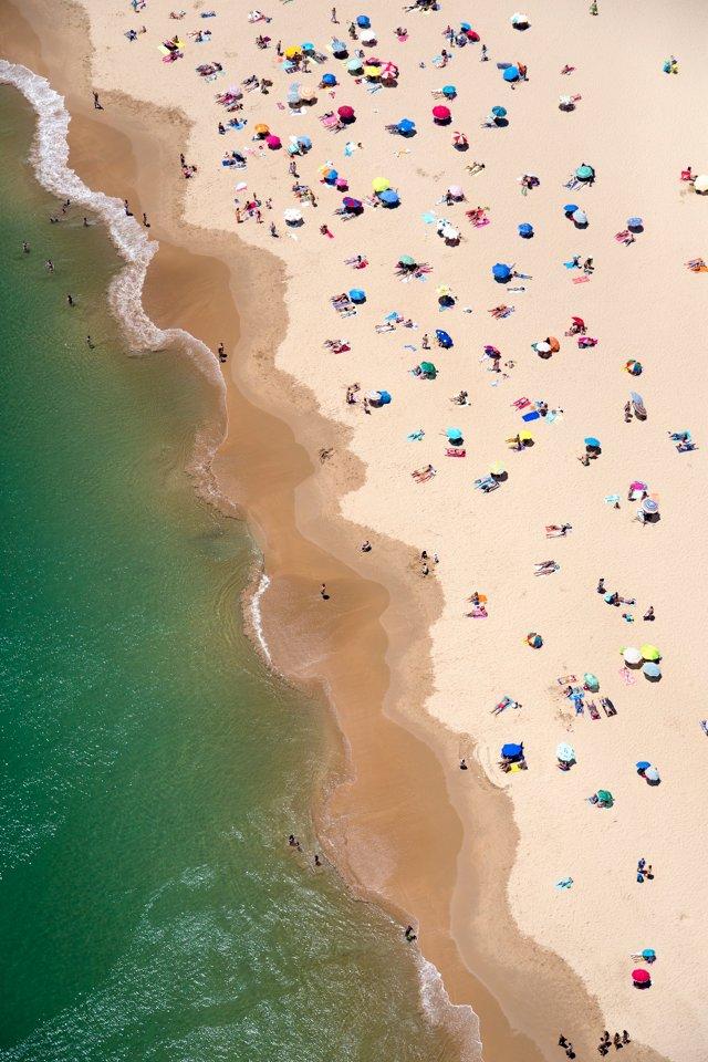 Gray Malin, Portugal Wavy Beach