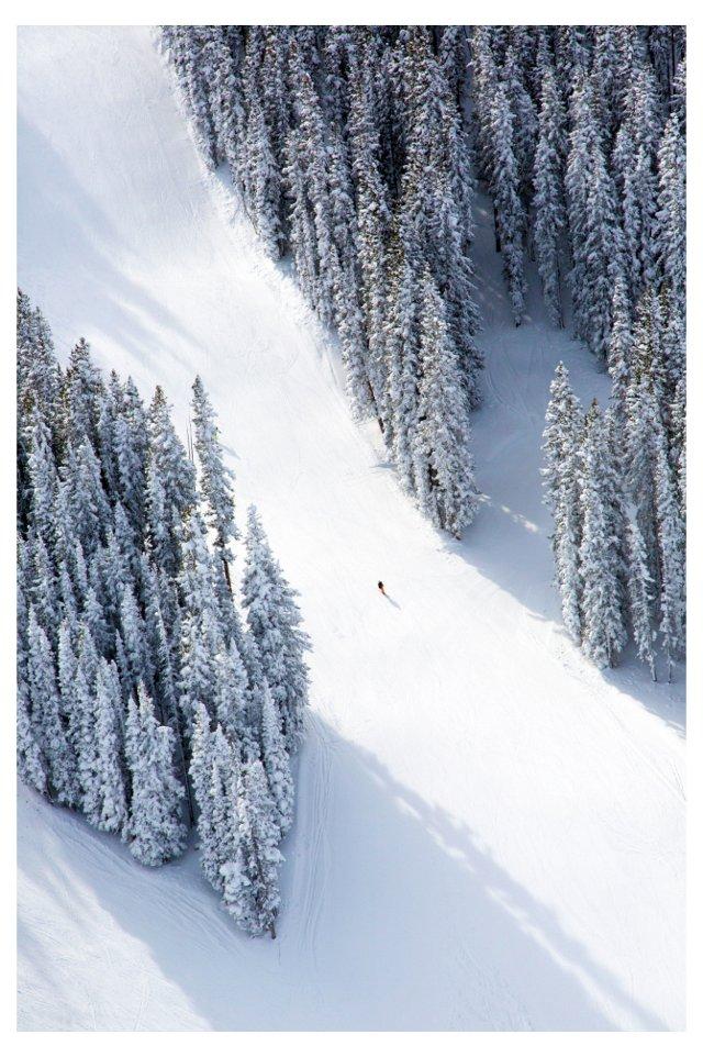 Aspen Lone Skier