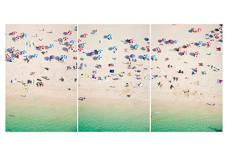 Gray Malin, Kite Beach Dubai Triptych