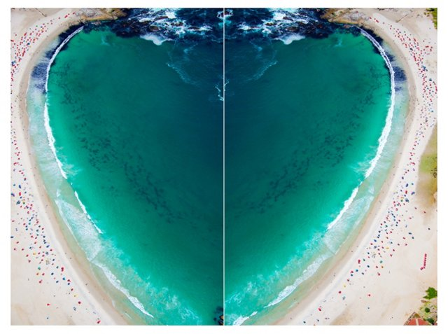 Camps Bay Heart, South Africa 19x13