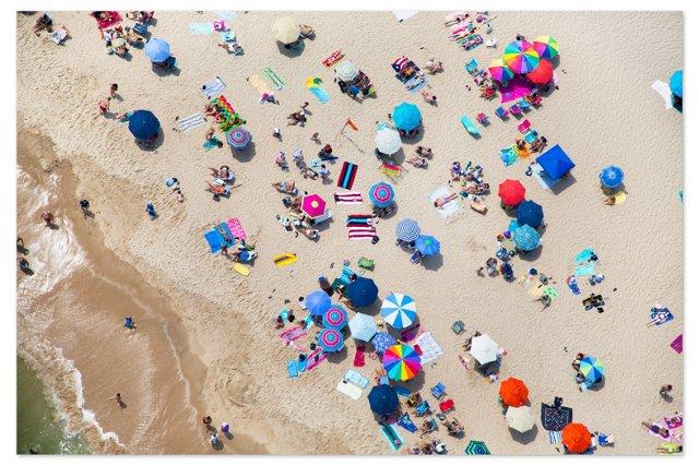 Gray Malin, Southampton Umbrellas