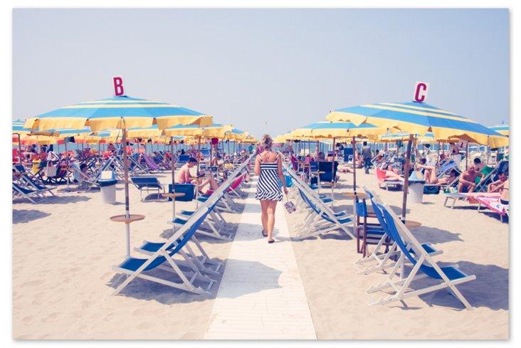 Lido di Camaiore Blue & Yellow Umbrellas